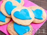 Лесни домашни маслени бисквити с украса от захарно тесто